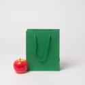 Пакет 19x23x9, зеленый, плотный крафт