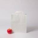 Пакет бумажный 24x28x14, белый, крафт, плоские ручки