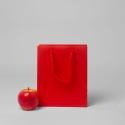 Пакет 19x23x9, красный, матовый